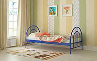 Металлическая кровать Алиса Люкс 80х190 см. Мадера, фото 1