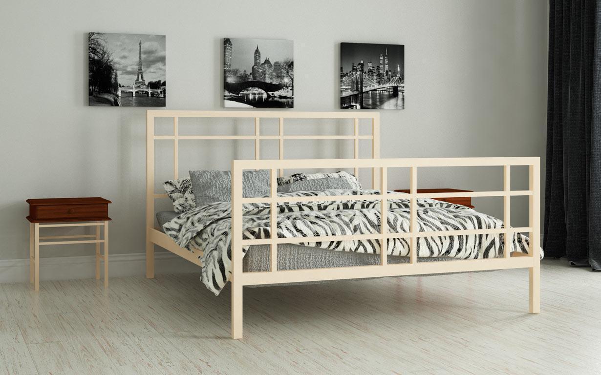 Металлическая кровать Дейзи 80х190 см. Мадера