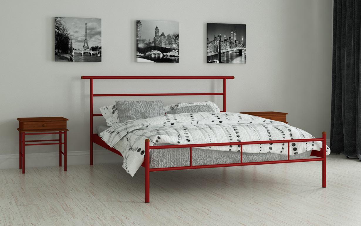 Металлическая кровать Диаз 80х190 см. Мадера