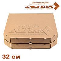 Коробка для пиццы 320х320х37 бурая, фото 1