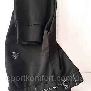 Женские спортивные трикотажные штанишки  Соккер, манжет, чёрные, размеры 46, 48, 50, 52.