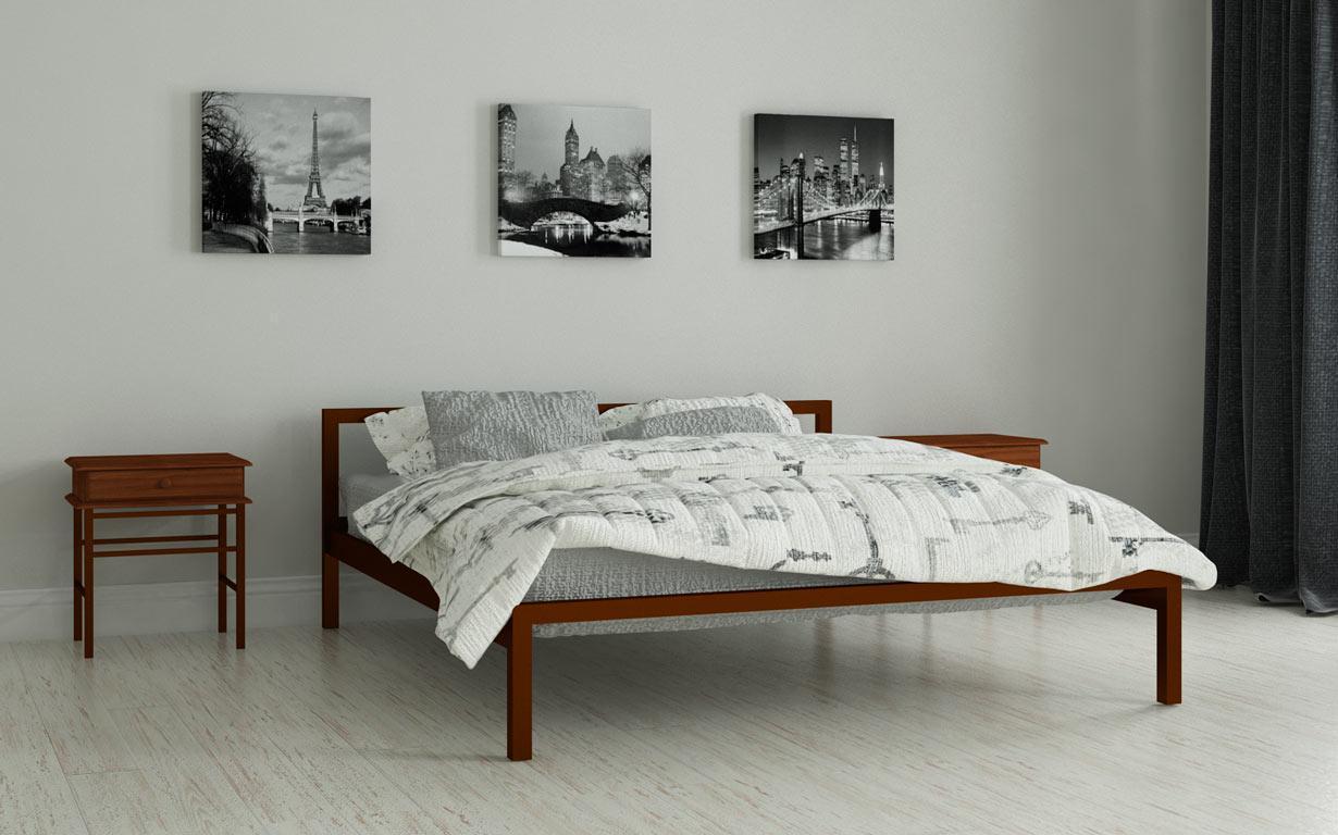 Металлическая кровать Вента 80х190 см. Мадера