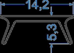 Рассеиватель из полистирола  матовый (А203, аналог)