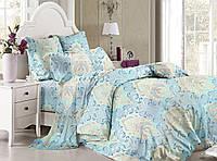 Полуторный комплект постельного белья 150*220 сатин (8617) TM KRISPOL Україна
