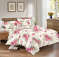 Двуспальный комплект постельного белья евро 200*220 сатин (8642) TM KRISPOL Украина