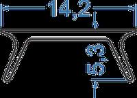 Рассеиватель из полистирола  прозрачный (А204, аналог)