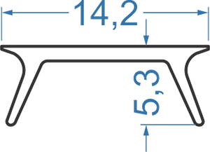 Розсіювач з полістиролу прозорий (А204, аналог)
