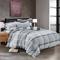 Двуспальный комплект постельного белья евро 200*220 сатин (9016) TM KRISPOL Украина
