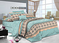 Двуспальный комплект постельного белья евро 200*220 сатин (9019) TM KRISPOL Украина