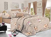 Двуспальный комплект постельного белья евро 200*220 сатин (9020) TM KRISPOL Украина