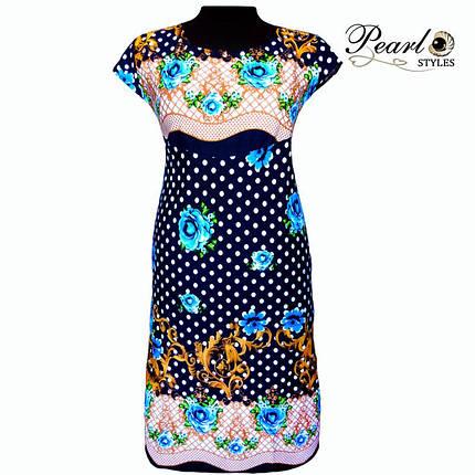Яркое летнее платье в цветах, фото 2