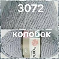 Турецкая пряжа для вязания  YarnArt Baby(беби) детский яркий  акрил - 3072 джинс