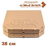 Коробки для пиццы 380х380х37 бурые, фото 1