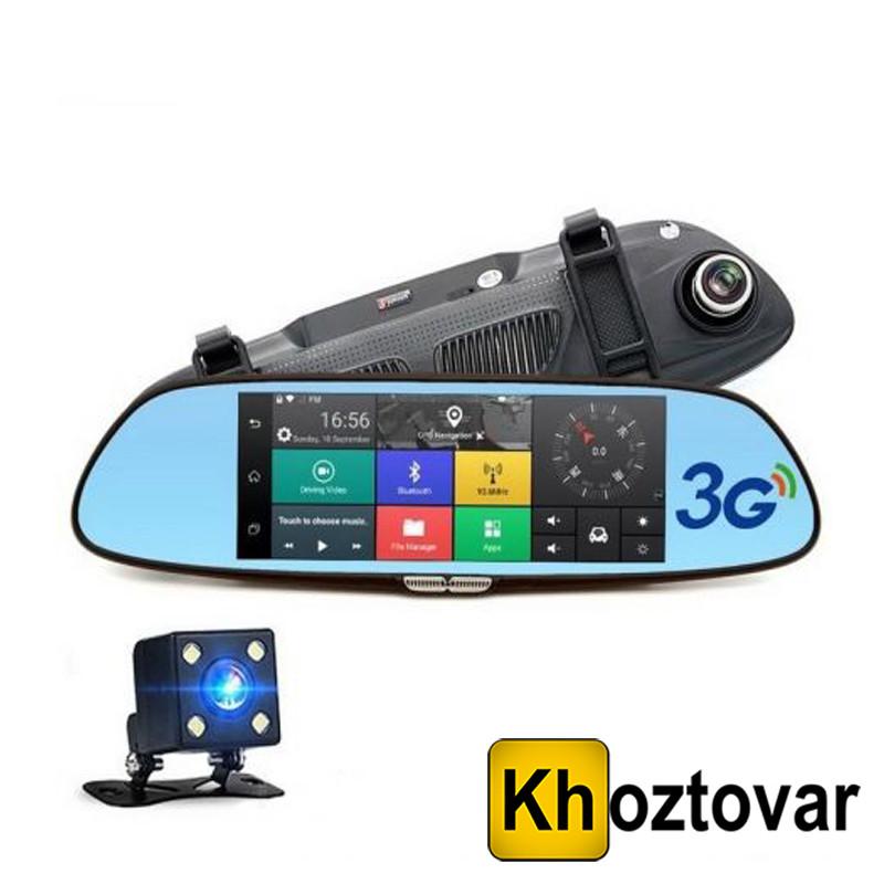 Автомобильный видеорегистратор-зеркало с двумя камерами DVR 7in1 Android | imprese