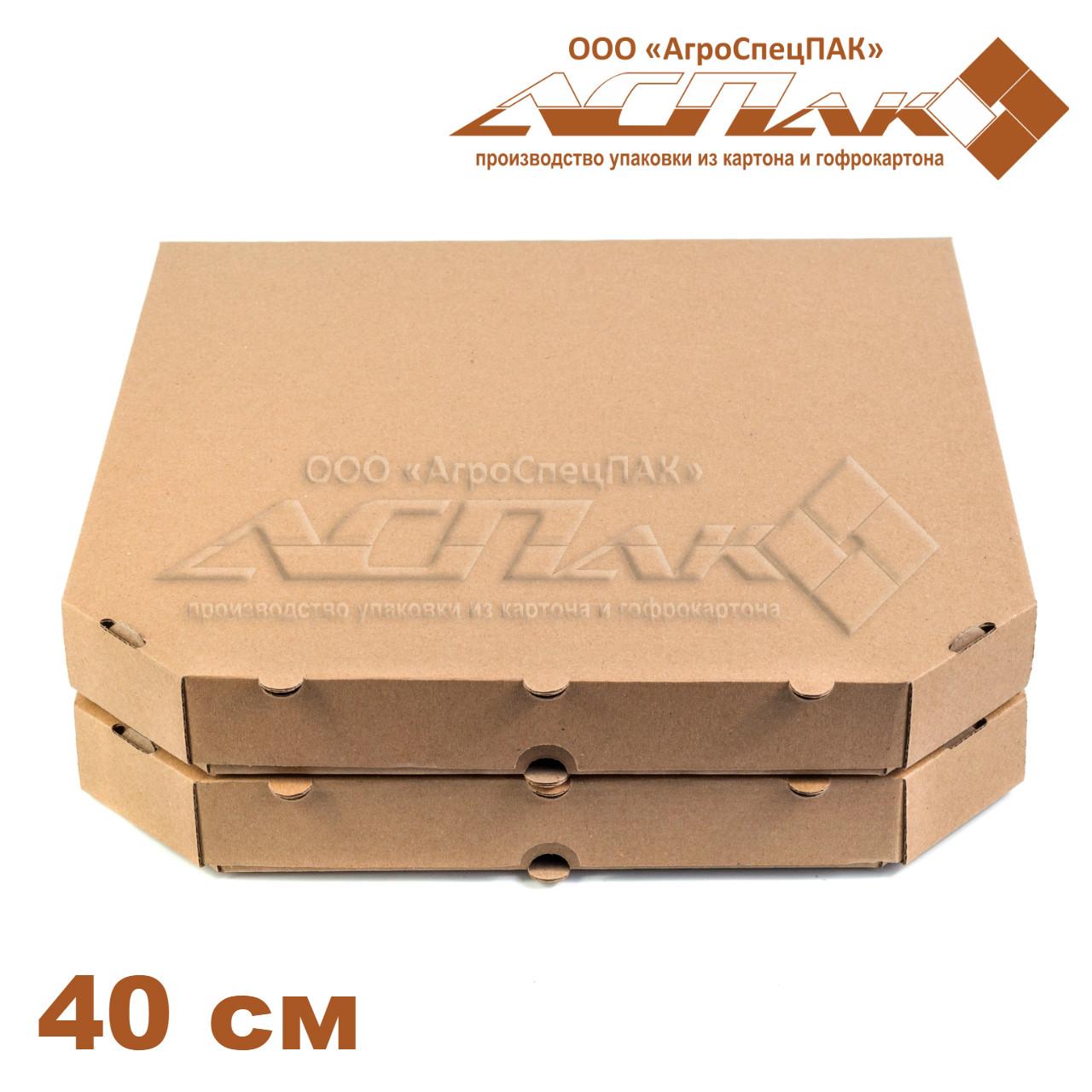 Коробки для пиццы, 400х400х37, бурая