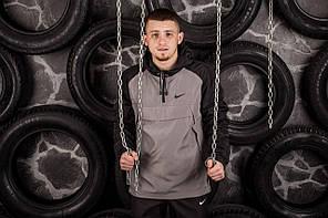 Комплект Nike Анорак +штаны, барсетка в подарок серый топ реплика, фото 2