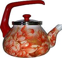 """Эмалированный чайник с бакелитовой ручкой """"Сакура"""" TM INTEROS"""
