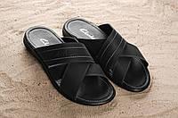 Мужские кожаные босоножки сандали шлепанцы, фото 1