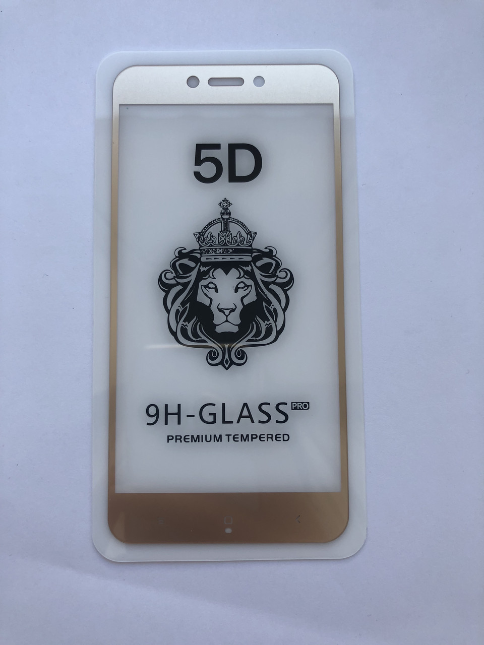 Защитное стекло 5D для Xiaomi Redmi 4x (Gold)