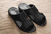 Мужские кожаные босоножки сандали шлепанцы