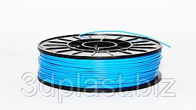 PLA пластик для 3D печати, 2.85 мм, 0.75 кг 0.75 кг, голубой