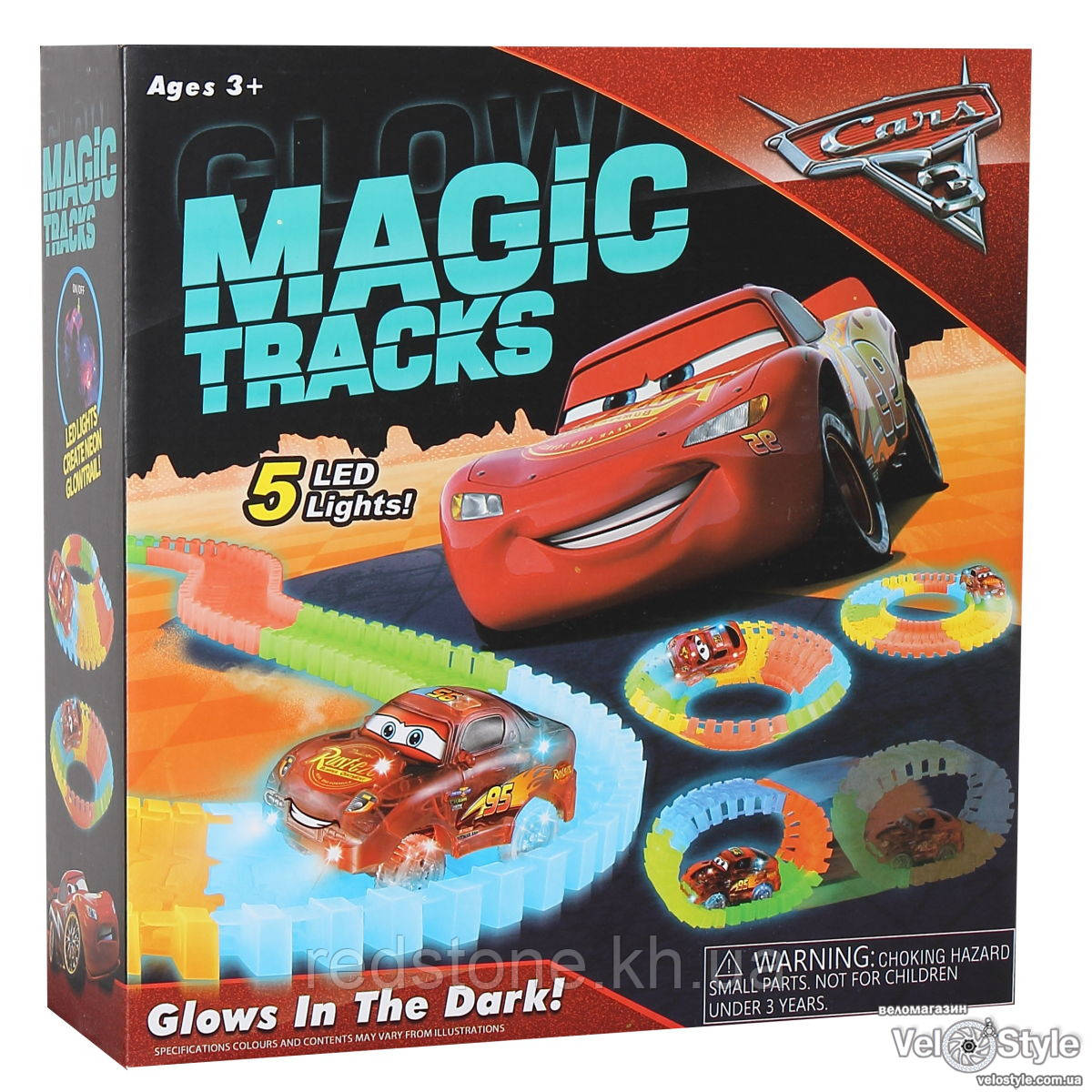 Magic Tracks Cars светящийся трек+машинка 165 дет, 2,7м.