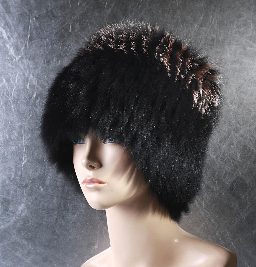 Женская меховая шапка Одуванчик из песца и фроста