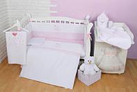 Постельный комплект Верес Sweet Bear pink (6 единиц) (120*60 см)