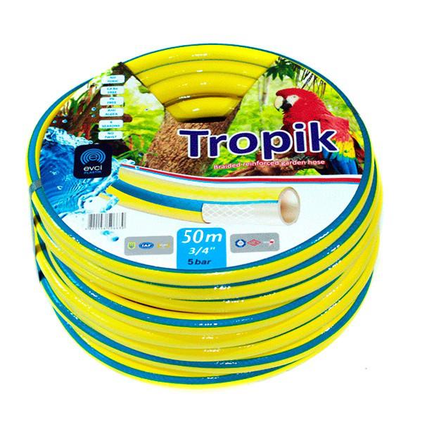 Шланг для полива Evci Plastik Tropik садовый диаметр 3/4 дюйма, длина 50 м (3/4 G H 50)