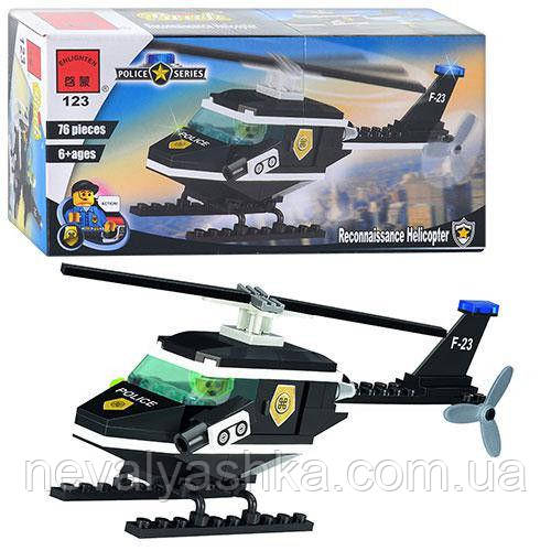 Конструктор Brick Полиция, Полицейский вертолёт, 76 дет., 123, 002731