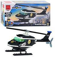 Конструктор Brick Полиция, Полицейский вертолёт, 76 дет., 123, 002731, фото 1