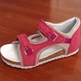 Ортопедичне взуття босоніжки дитячі для дівчинки Ortex коричневі, фото 2