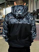 Комплект Nike Windrunner Jacket +штаны, барсетка в подарок синий камуфляж топ реплика, фото 2
