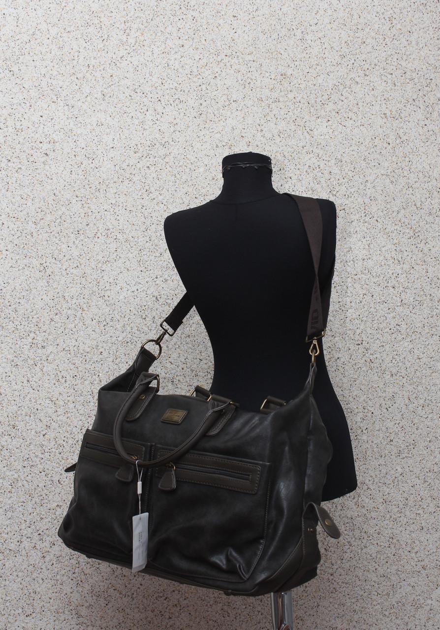 a1e467e3612f Мужская дорожная сумка David Jones в дорогу кожаная (кожа искусственная) /  Саквояж мужской кожаный