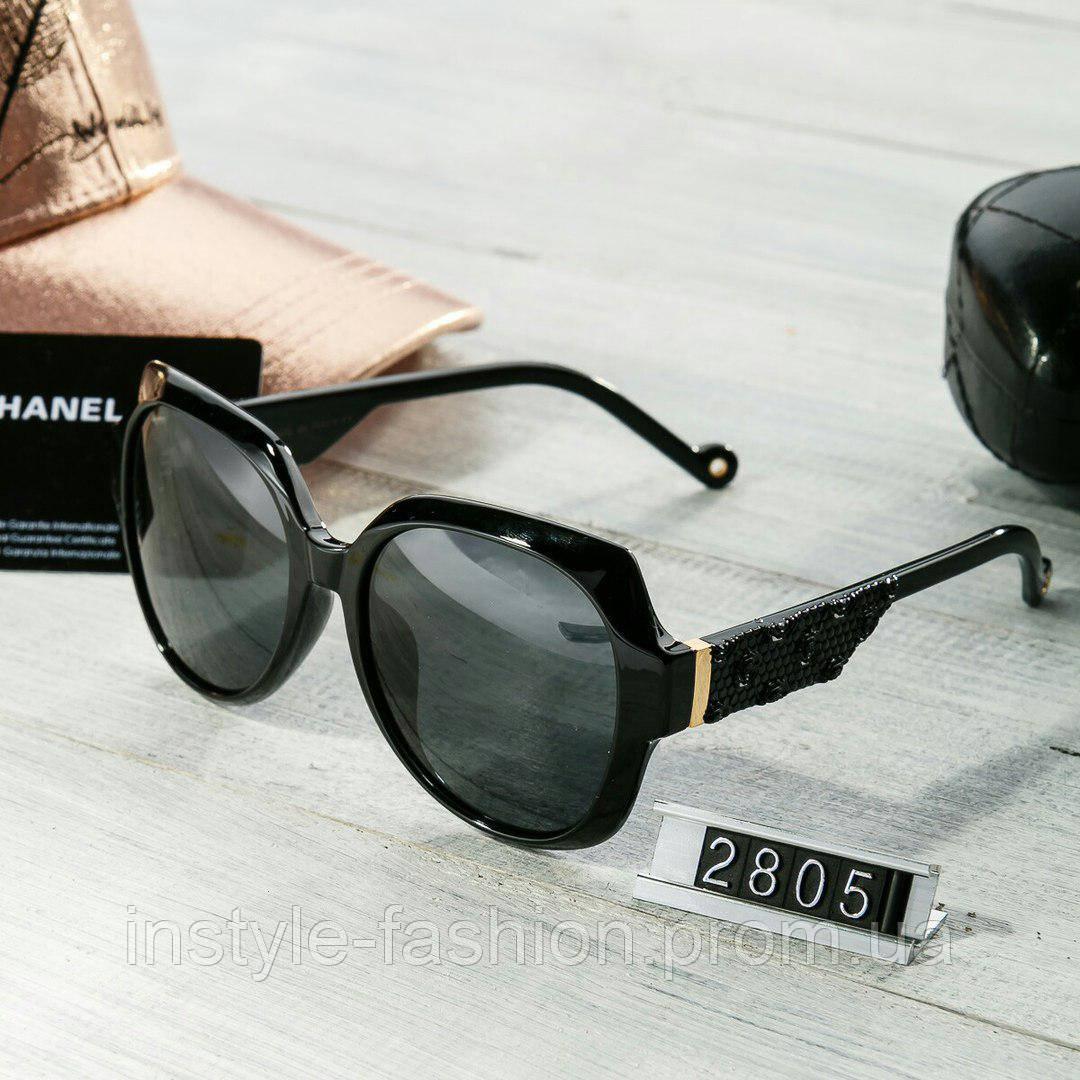 7b0e0633171d Брендовые женские очки Chanel Шанель Poloroid черные  купить ...