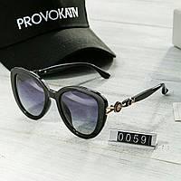 Брендовые женские очки копия Диор Poloroid черные, фото 1