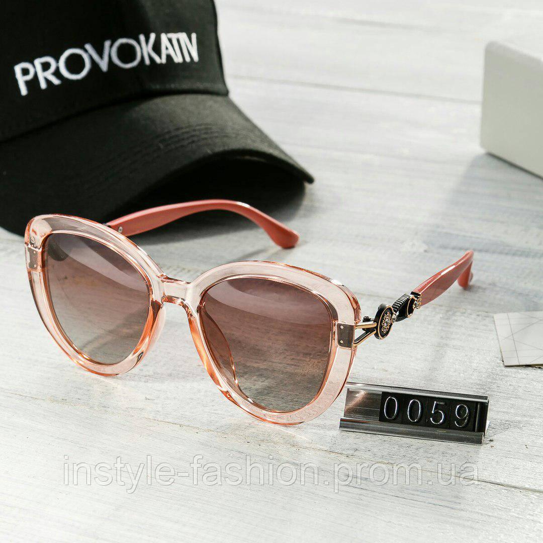Брендовые женские очки копия Диор Poloroid розовые