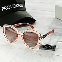 Брендовые женские очки копия Диор Poloroid розовые, фото 1