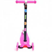 Трехколесный самокат 4Kids Maxi светятся колеса, розовый, фото 3