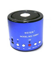 Мини портативная MP3 колонка WSTER WS-А8, фото 1