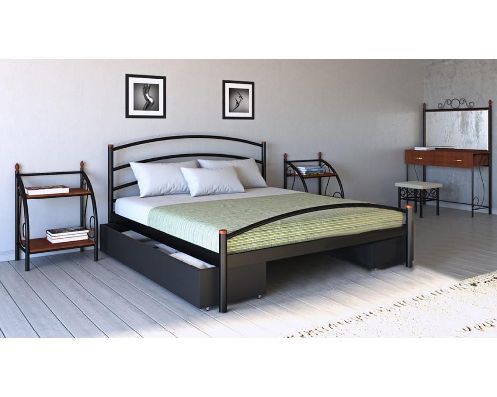 Металлическая кровать Маргарита 80х190 см. Металл-Дизайн