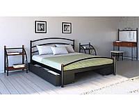 Металлическая кровать Маргарита 80х190 см. Металл-Дизайн 180х200, 180х200, опционально, металлические трубки;буковые ламели, 90, 45, Металл, двухспальная, нет, да, нет