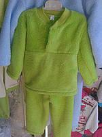 Пижама детская  велсофт МАХРА размеры 56,64. Цвет голубой