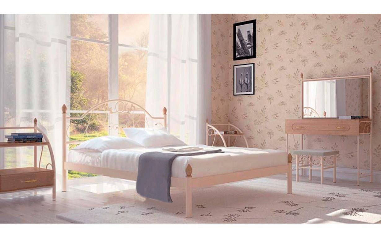 Металлическая кровать Франческа 140х190 см. Металл-Дизайн