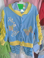 Спортивный велюровый костюм для девочки, 1 годик