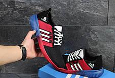 Кроссовки мужские Adidas сетка,черные с красным 43, фото 3
