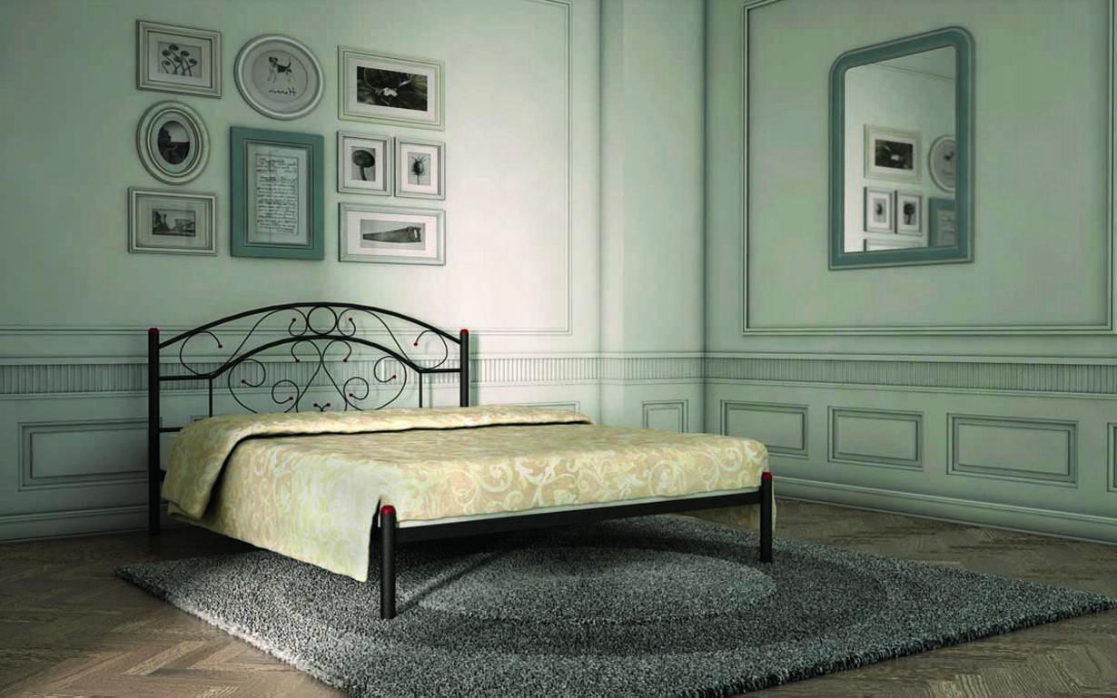 Металлическая кровать Скарлет 120х190 см. Металл-Дизайн