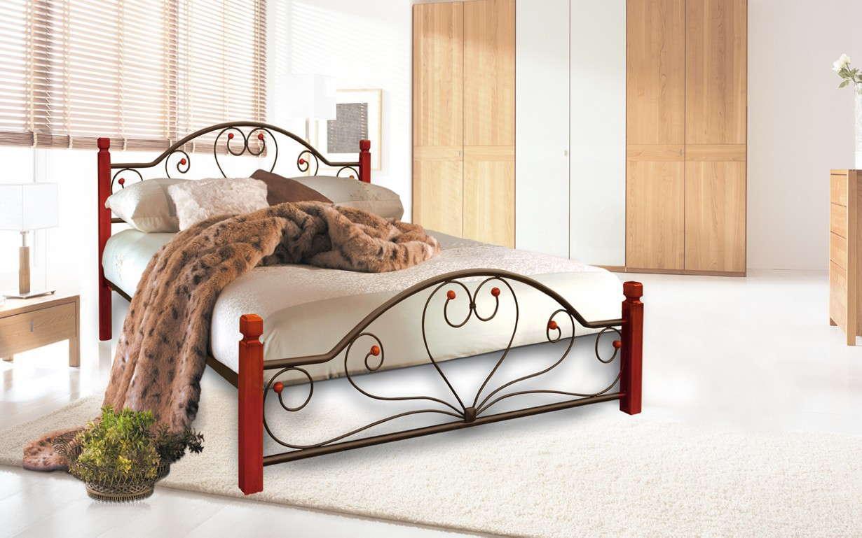 Металлическая кровать Джоконда Вуд 140х190 см. Металл-Дизайн