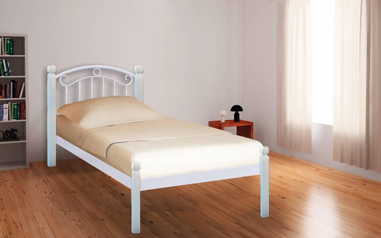 Металлическая кровать Монро Вуд 80х190 см. Металл-Дизайн