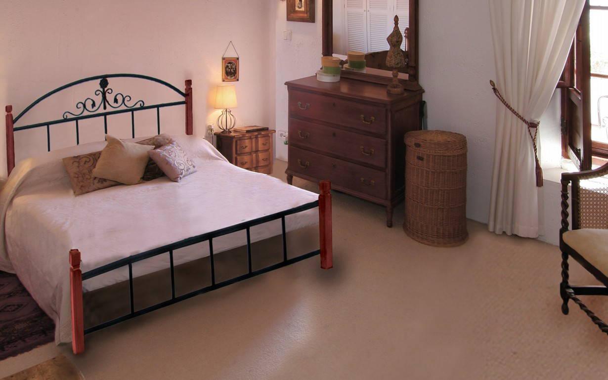 Металлическая кровать Кассандра Вуд 140х190 см. Металл-Дизайн